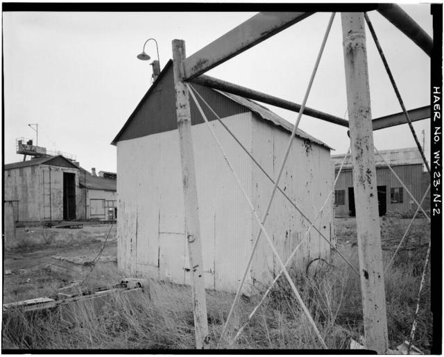 Clay Spur Bentonite Plant & Camp, Oil House, Clay Spur Siding on Burlington Northern Railroad, Osage, Weston County, WY