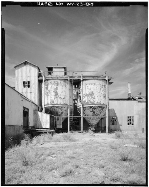 Clay Spur Bentonite Plant & Camp, Refining Mill, Clay Spur Siding on Burlington Northern Railroad, Osage, Weston County, WY