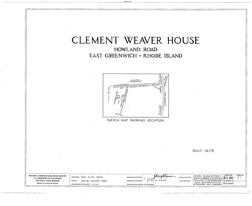 Clement Weaver House, 125 Howland Road, East Greenwich, Kent County, RI