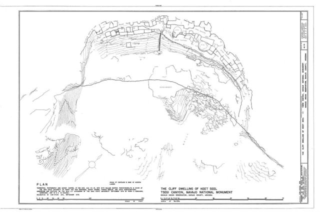 Cliff Dwelling of Keet Seel, Navajo Reservation, Kayenta, Navajo County, AZ