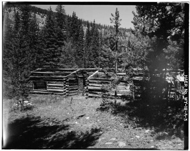 Cliff Mine, Bunkhouses, Centennial Ridge, Medicine Bow National Forest, Centennial, Albany County, WY