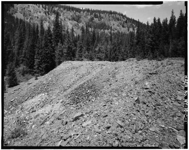 Cliff Mine, Mine Tailings Pile, Centennial Ridge, Medicine Bow National Forest, Centennial, Albany County, WY