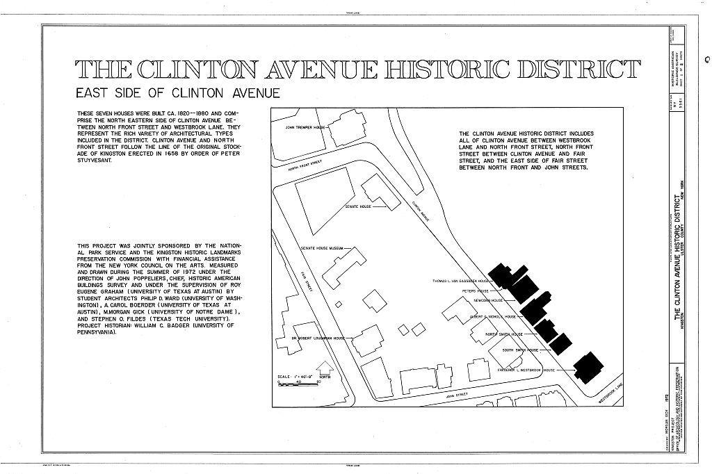 Clinton Avenue Historic District, Kingston, Ulster County, NY