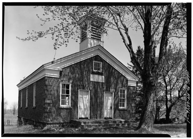 Cobblestone Schoolhouse, Ridge Road (U.S. Route 104), Childs, Orleans County, NY