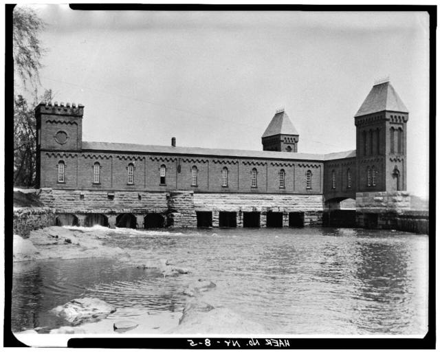 Cohoes Company, Gate House No. 1, On Mohawk River, North end of Canal abutting East bank, Cohoes, Albany County, NY