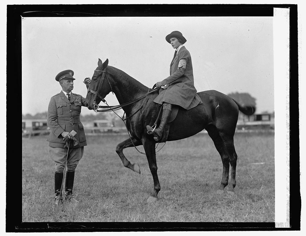 Col. Mitchell & Miss Lydia Archibald. R.C.H. Club field day, 10/15/25