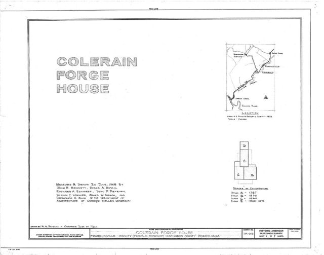 Colerain Forge House, State Route 45 vicinity (Franklin Township), Franklinville, Huntingdon County, PA