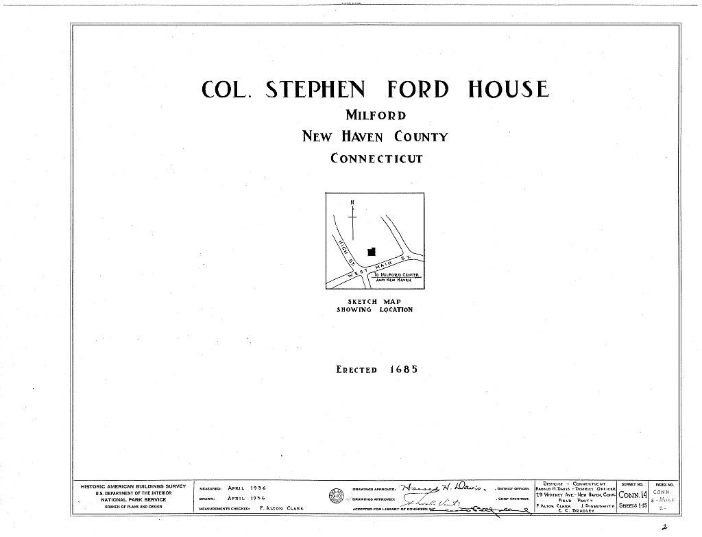 Colonel Stephen Ford House, West Main Street, Milford, New Haven County, CT