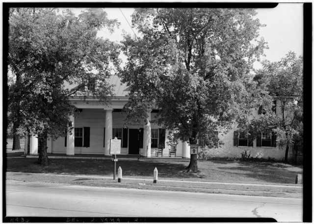 Colonel Thomas Robinson House, Naaman's Road at Philadelphia Pike (Route 13), Naaman, New Castle County, DE