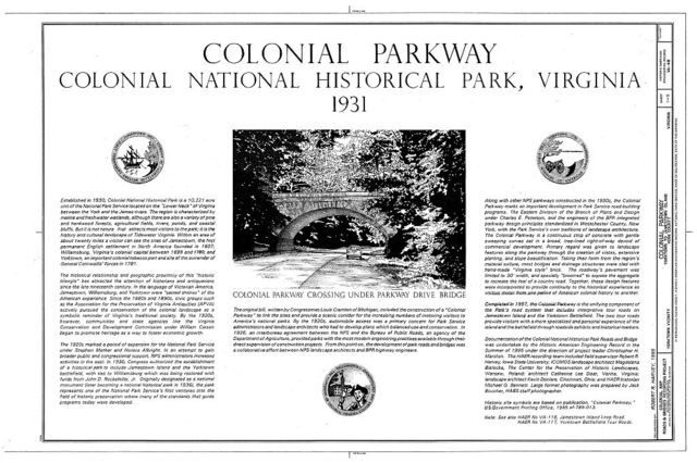 Colonial Parkway, Yorktown to Jamestown Island, Yorktown, York County, VA