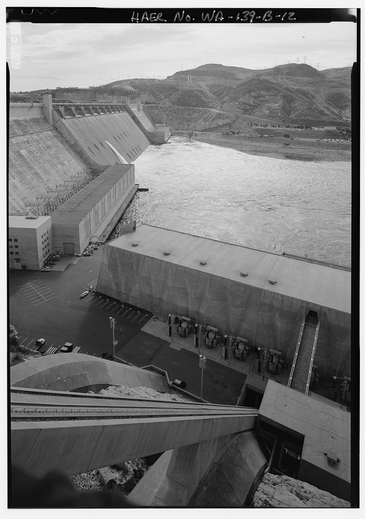 Columbia Basin Project, Grand Coulee Dam Powerplant Complex, Grand Coulee, Grant County, WA