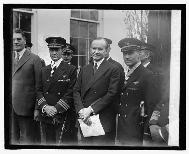 Comdr. Byrd Coolidge & Mch. Bennett, 2/19/27