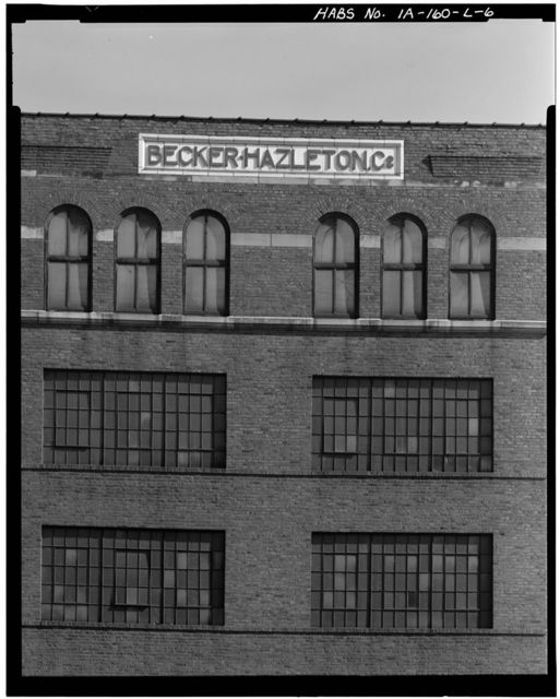 Commercial & Industrial Buildings, Becker-Hazelton Company Warehouse, 280 Iowa Street, Dubuque, Dubuque County, IA