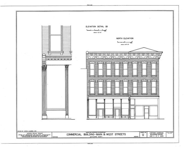 Commercial Building, 102-104 1/2 East Main Street, Madison, Jefferson County, IN