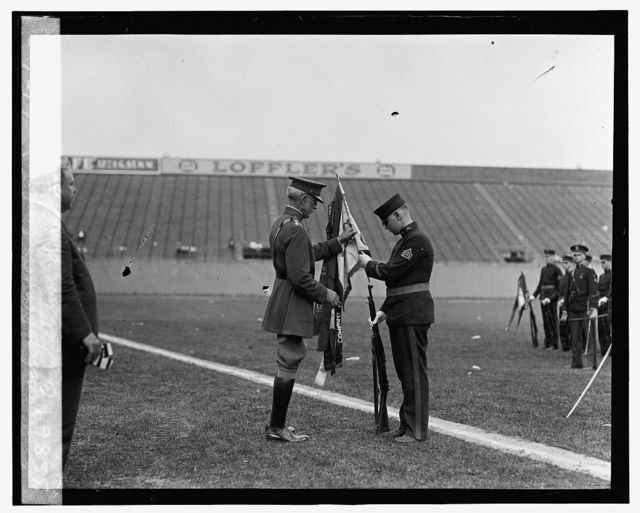 Competitive drill of high school cadets (white), 6/2/25