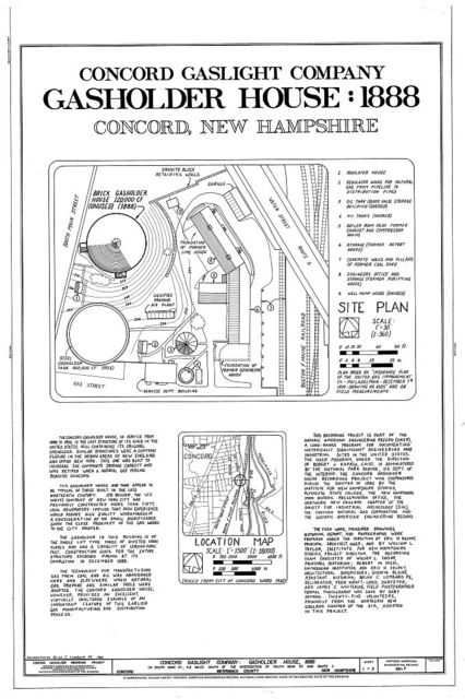 Concord Gas Light Company, Gasholder House, South Main Street, Concord, Merrimack County, NH