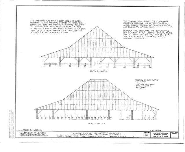 Confederate Memorial Pavilion, Rivers Bridge State Park, Ehrhardt, Bamberg County, SC