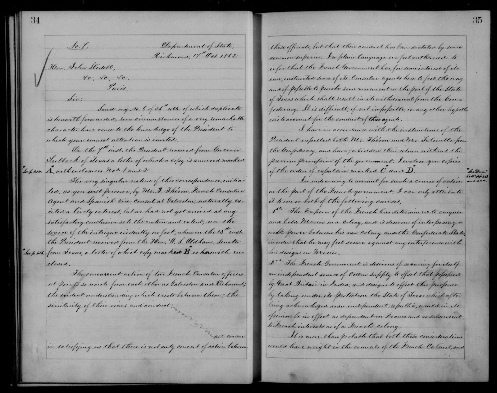 Confederate States of America records: Microfilm Reel 10