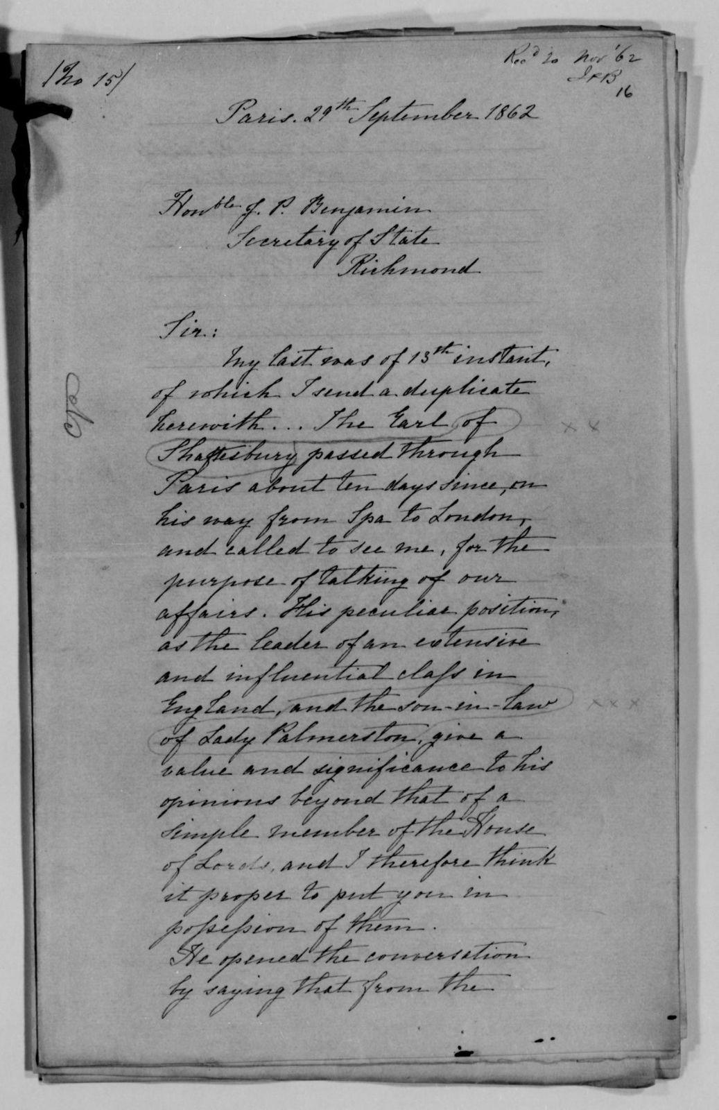 Confederate States of America records: Microfilm Reel 3