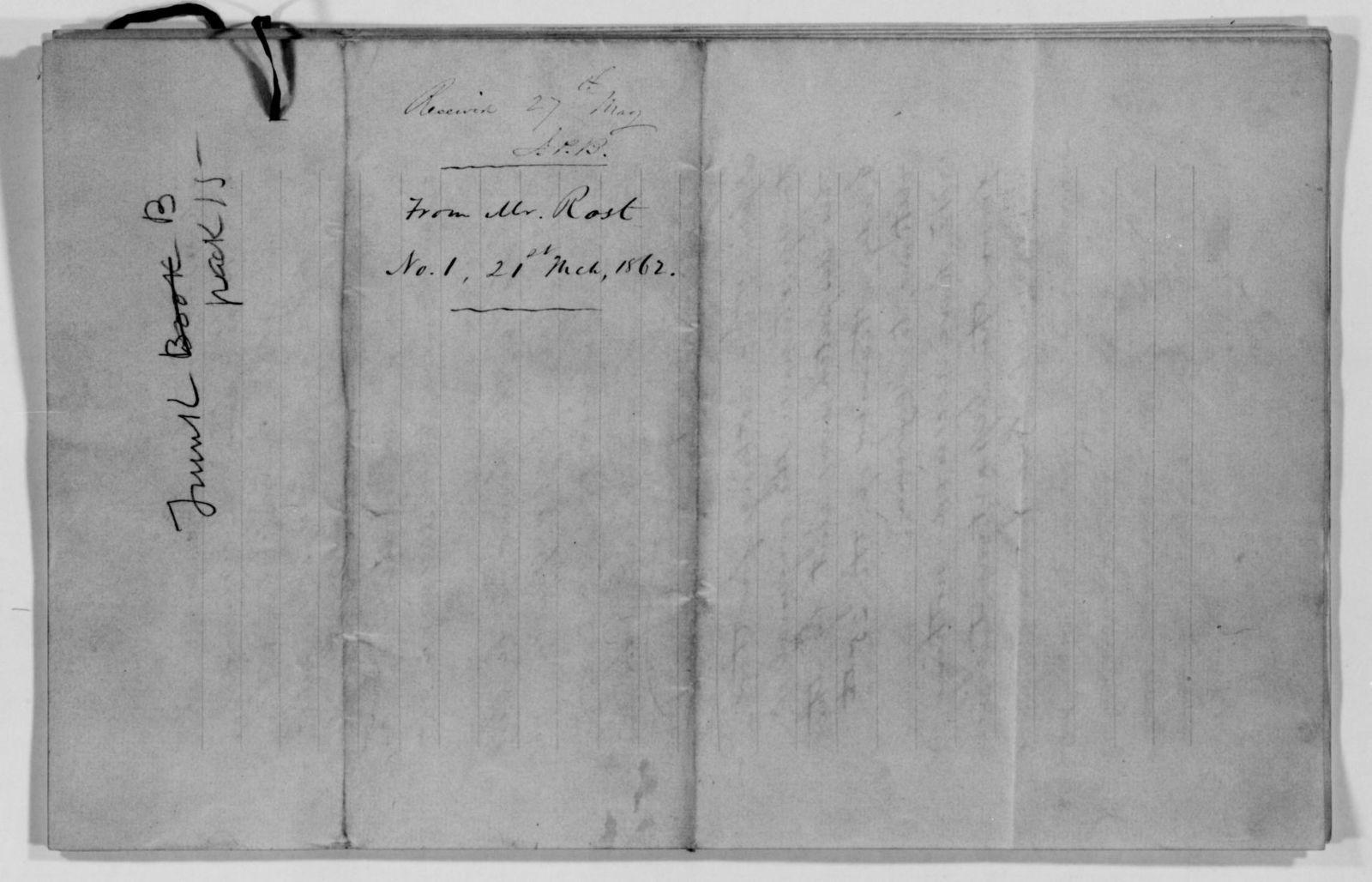 Confederate States of America records: Microfilm Reel 4