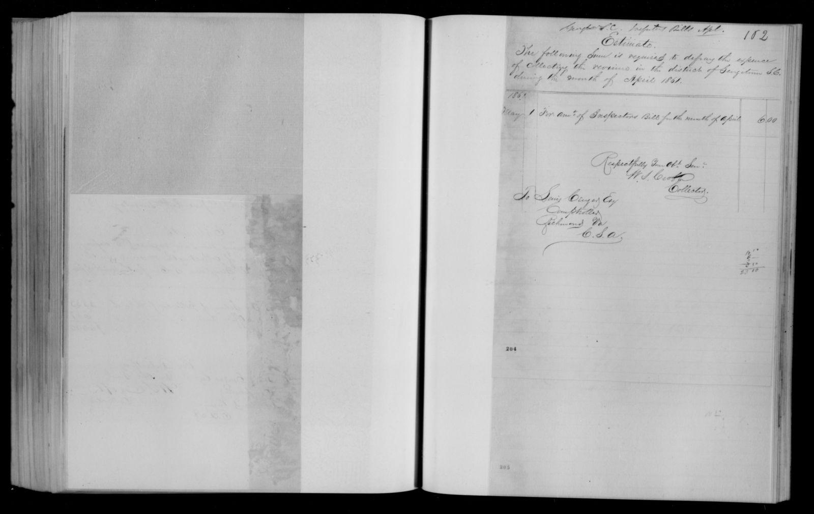 Confederate States of America records: Microfilm Reel 48