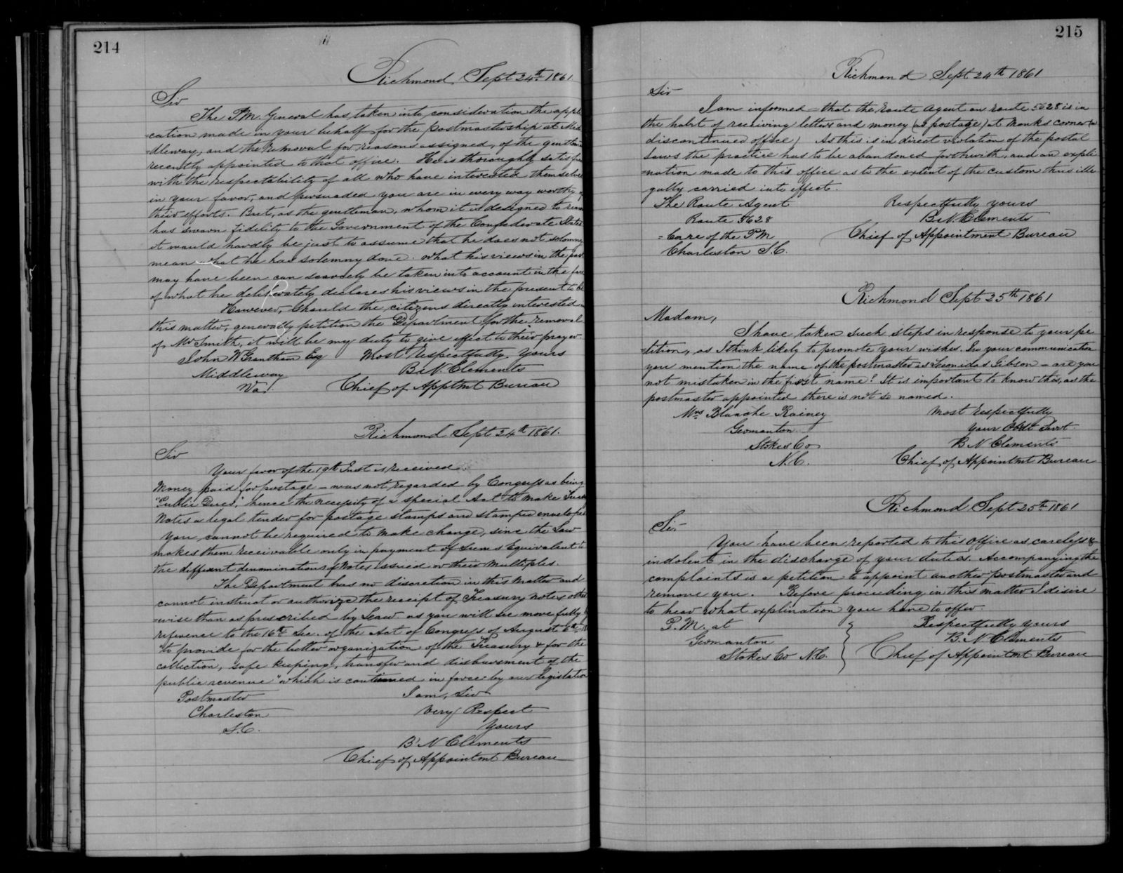 Confederate States of America records: Microfilm Reel 49
