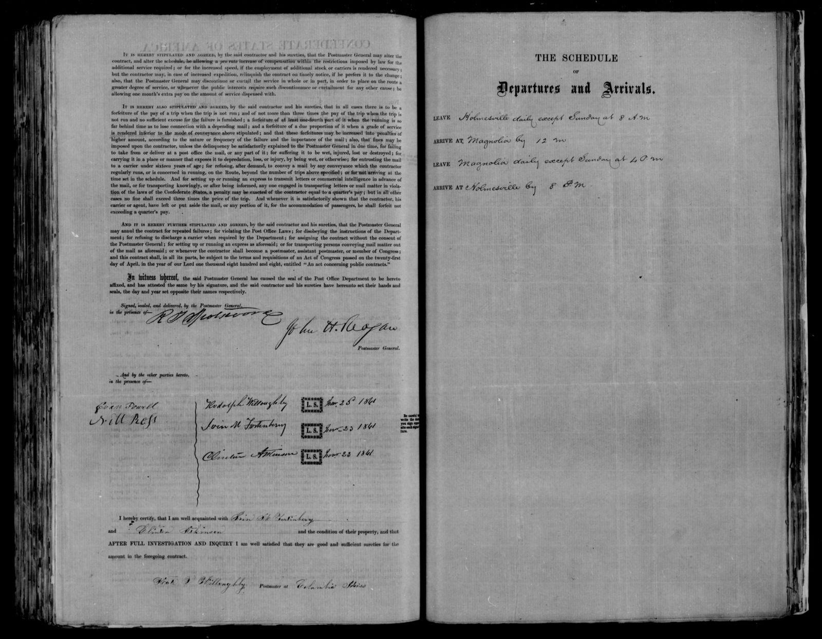 Confederate States of America records: Microfilm Reel 54