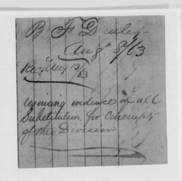 Confederate States of America records: Microfilm Reel 64