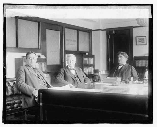 Conference Secty. Wilson, office LTOR, Thos. F. Brewster, Secty. Wilson, Jus. L. Lewis, Captain, Oct. 17/19