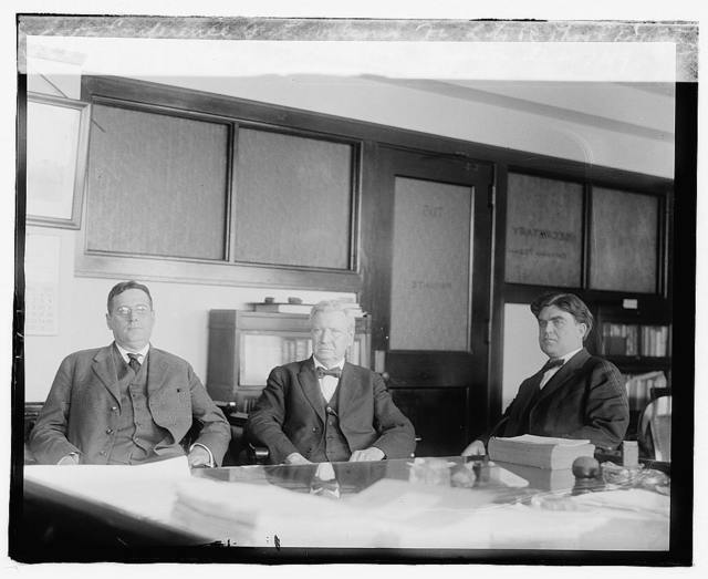 Conference Secty. Wilson office LTOR, Thos. F. Brewster, Secty. Wilson, Jus. L. Lewis, Captain, Oct. 17/19