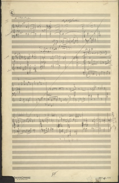 Connotations for orchestra [open score sketch]