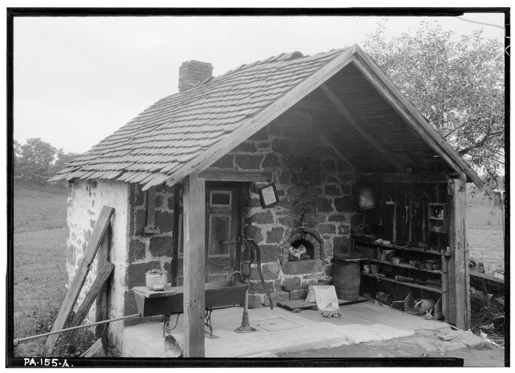 Cook House, Outdoor Stone, Cocalico, Lancaster County, PA