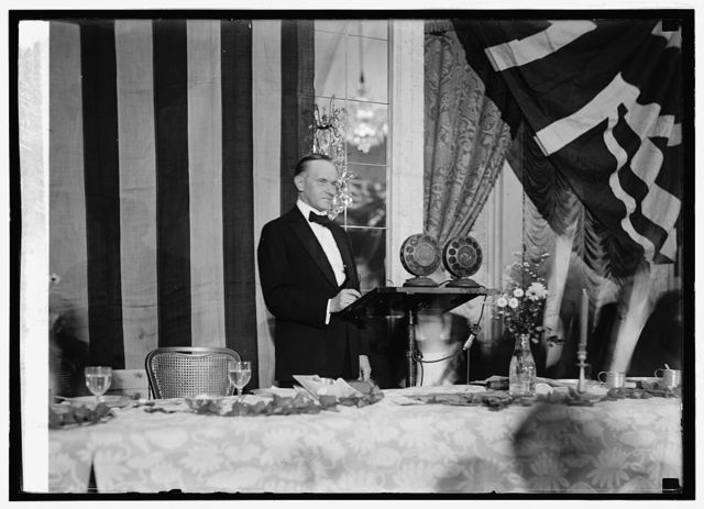 Coolidge at microphone, Golden Rule Near East dinner, 10/24/24