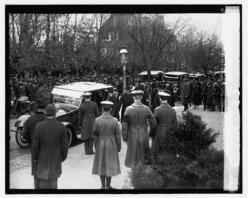 Coolidge at Wilson funeral, 2/6/24