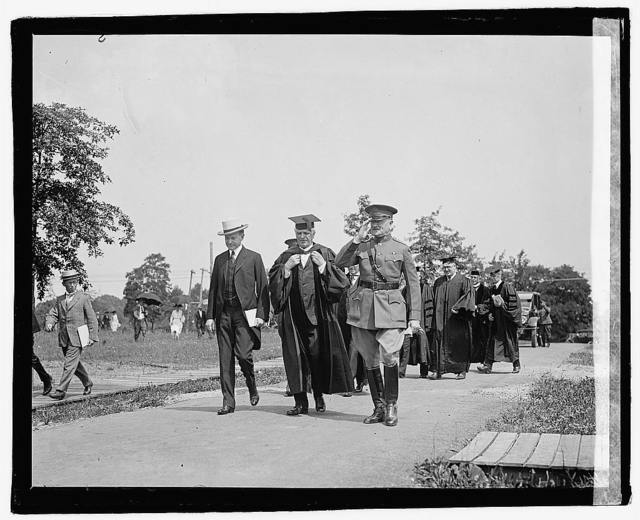 Coolidge, Bishop McDowell, Pershing, 6/7/22