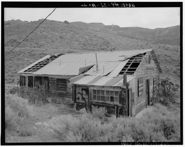 Copper Canyon Camp of the International Smelting & Refining Company, Four Room Residence, Copper Canyon, Battle Mountain, Lander County, NV