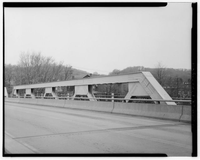 Coraopolis Bridge, Spanning Ohio River back channel at Ferree Street & Grand Avenue, Coraopolis, Allegheny County, PA