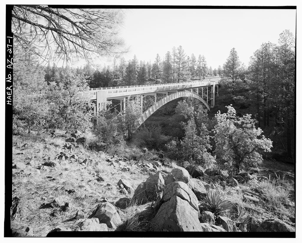 Corduroy Creek Bridge, Spanning Corduroy Creek at Highway 60, Show Low, Navajo County, AZ
