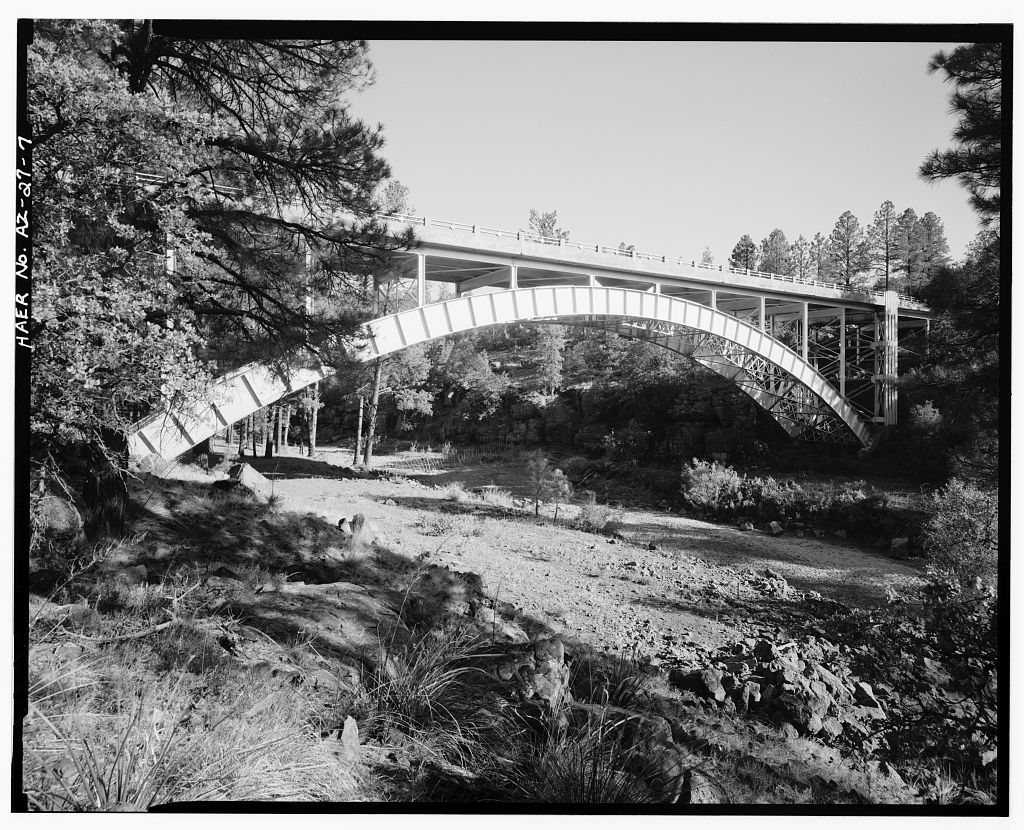 Corduroy Creek Bridge, Spanning Corduroy Creek at Highway 60, Show Low, Navajo County, AZ