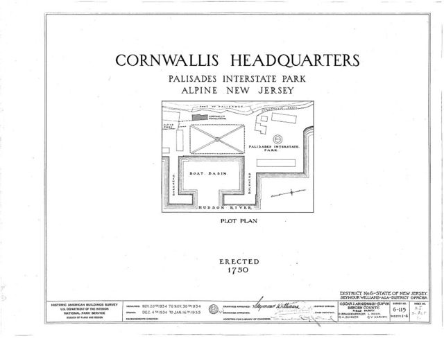 Cornwallis Headquarters, Palisade Interstate Park, Alpine, Bergen County, NJ
