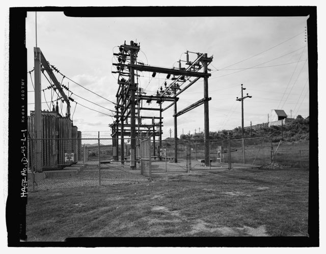 Cove Hydroelectric Development, Substation, Cove Power Plant Road, Grace, Caribou County, ID