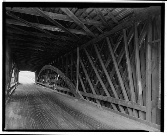 Covered Bridge, Spanning Contoocook River, Hopkinton, Merrimack County, NH