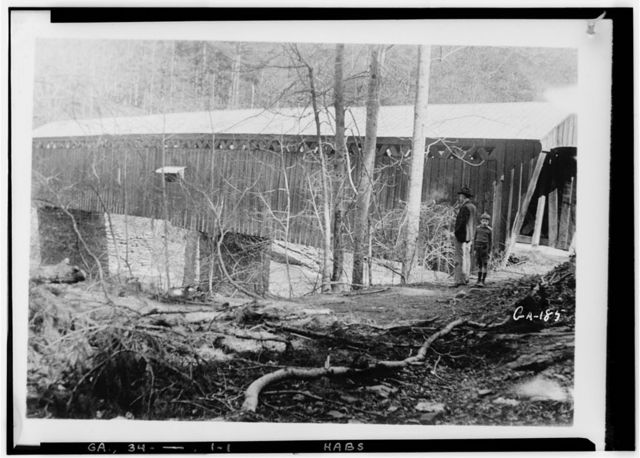 Covered Bridge, Spanning Soap Creek, Atlanta, Fulton County, GA