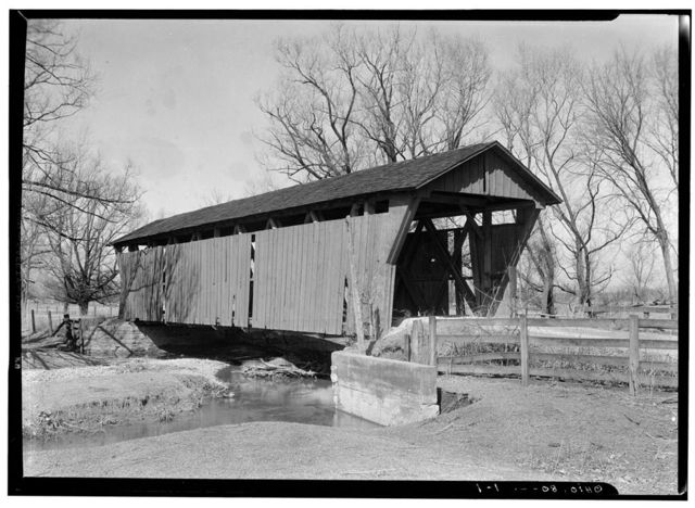 Covered Bridge, Spanning Spain's Creek, North Lewisburg, Champaign County, OH