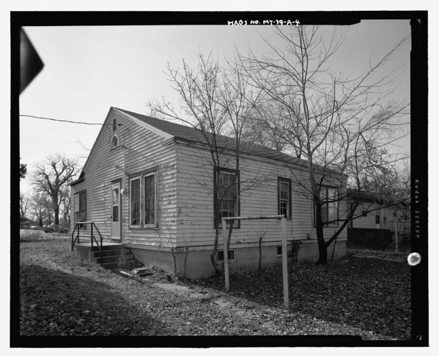 Crow Agency, Employee's Quarters, East of north end of Weaver Drive Crow Indian Reservation, Crow Agency, Big Horn County, MT