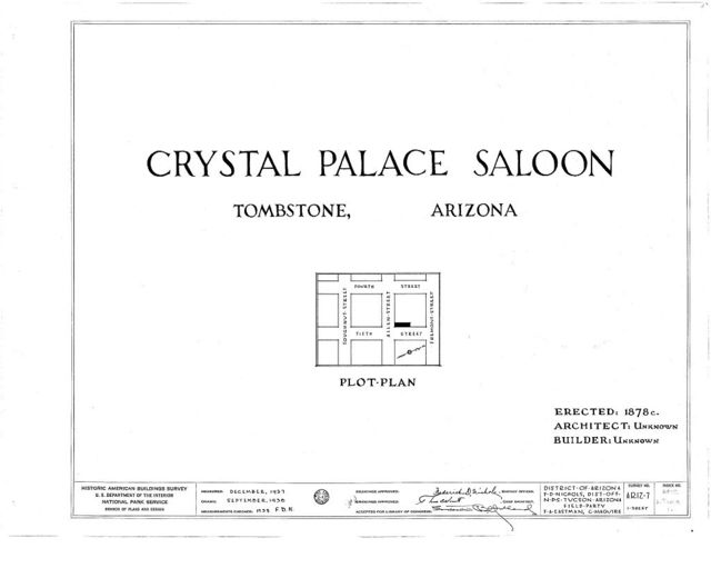 Crystal Palace Saloon, Allen & Fifth Streets, Tombstone, Cochise County, AZ