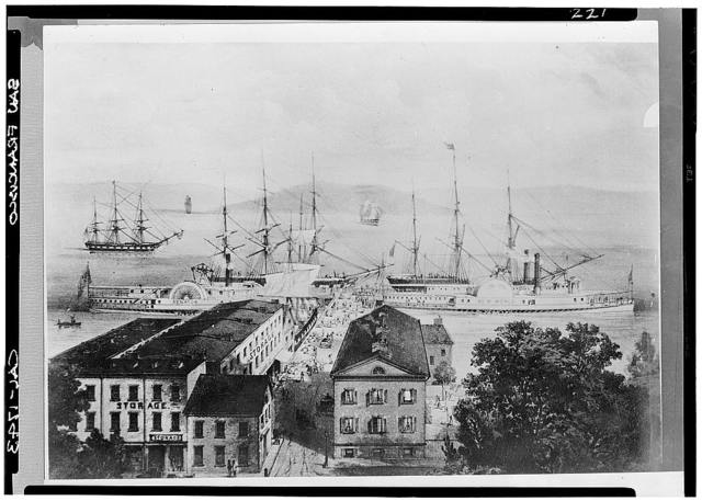 Cunningham's Wharf, Historic View, Commercial Street, San Francisco, San Francisco County, CA