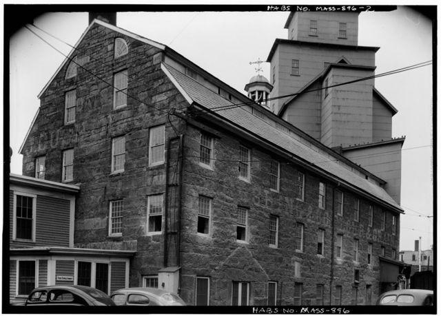 Cushing Flour & Grain Mill, Laurel Street Bridge vicinity, Fitchburg, Worcester County, MA