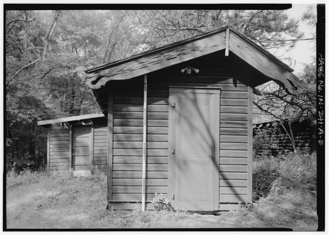 Cypress Log Cabin, Guest House, 215 Lake Front Drive (moved from Chicago, IL), Beverly Shores, Porter County, IN