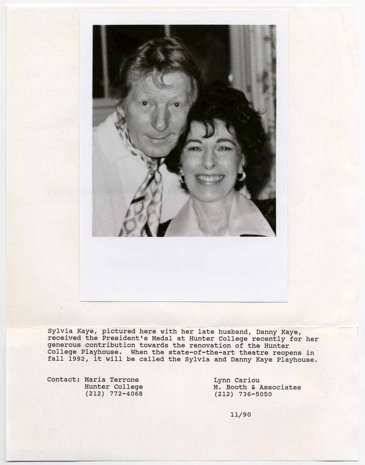 [ Danny Kaye and Sylvia Fine headshot]